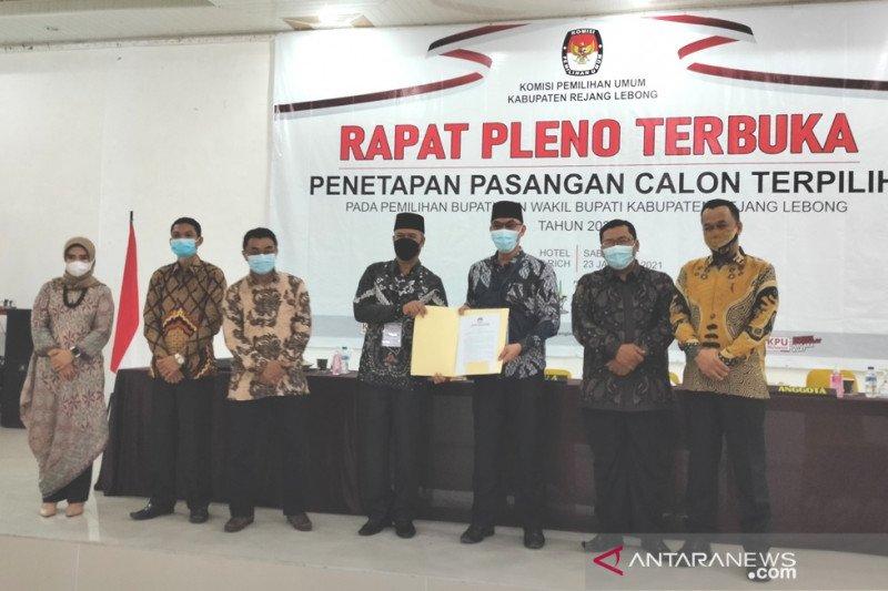 KPU Rejang Lebong tetapkan Syamsul-Hendra bupati-wabup terpilih