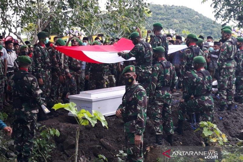 Praka TNI Dedi Hamdani korban KKSB Papua dimakamkan di Lombok Tengah