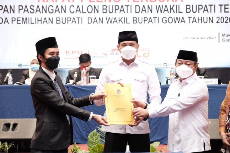 KPU Kabupaten Gowa tetapkan Adnan-Kio paslon bupati-wabup terpilih