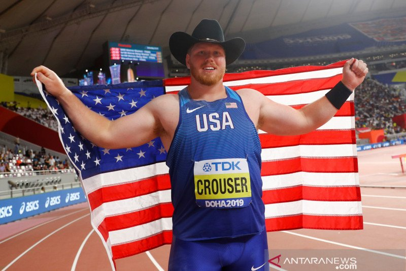 Ryan Crouser cetak rekor dunia tolak peluru setelah bertahan 32 tahun
