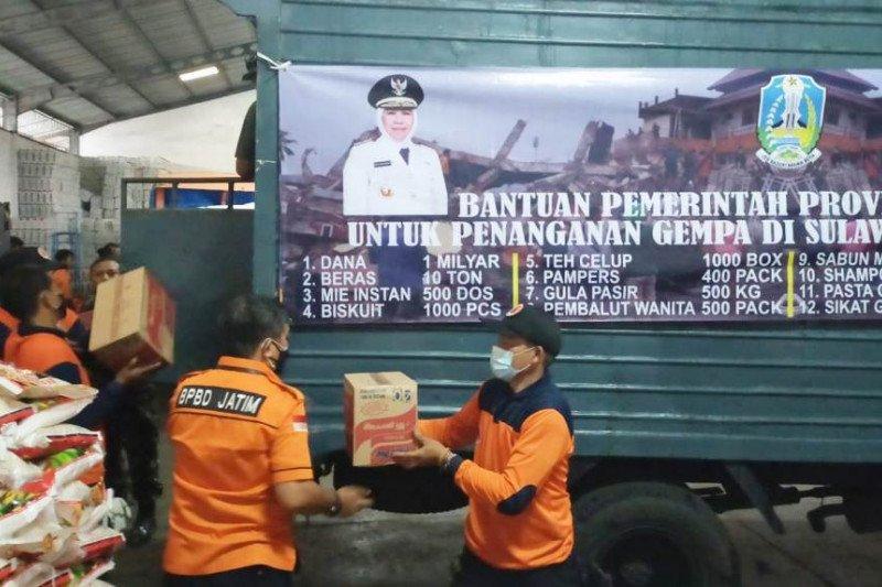 Jawa Timur kirim bantuan ke Kalimantan Selatan dan Sulawesi Barat