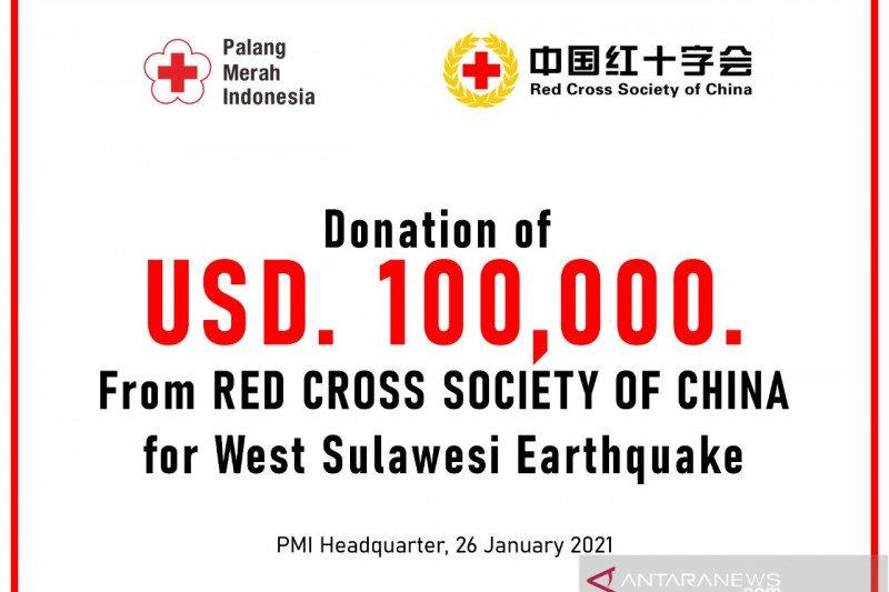PMI terima donasi penanganan gampa Sulbar dari Palang Merah China