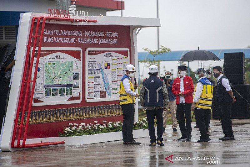 Presiden minta pemda bangun ekonomi sepanjang Tol Kayu Agung-Palembang
