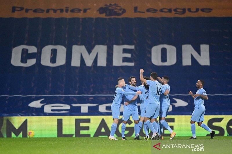 Liga Inggris : Manchester City ke puncak klasemen usai bantai West Bromwich Albion