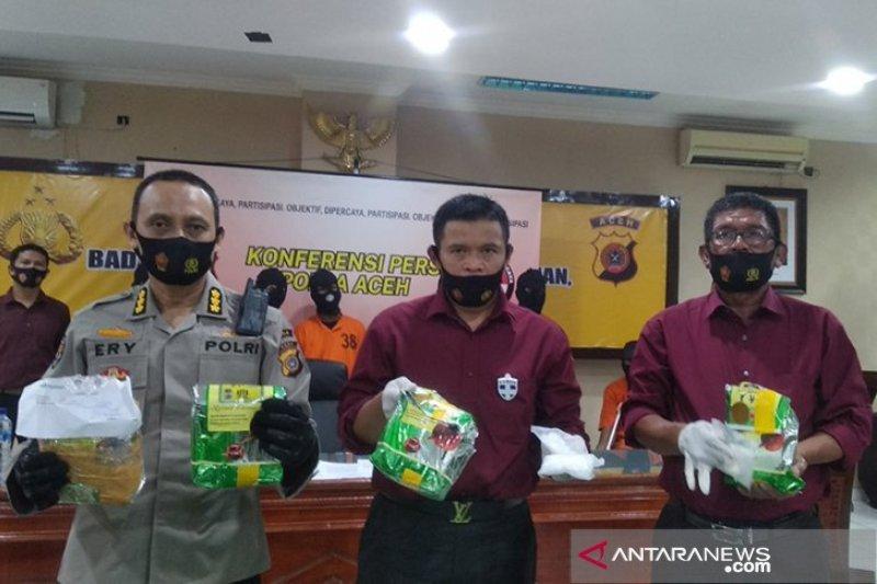 Polres Bireuen Aceh ungkap 340 Kg sabu dari kapal nelayan