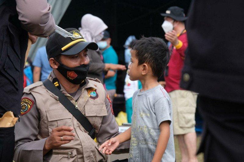 Tim trauma healing Polri pendampingan anak korban gempa