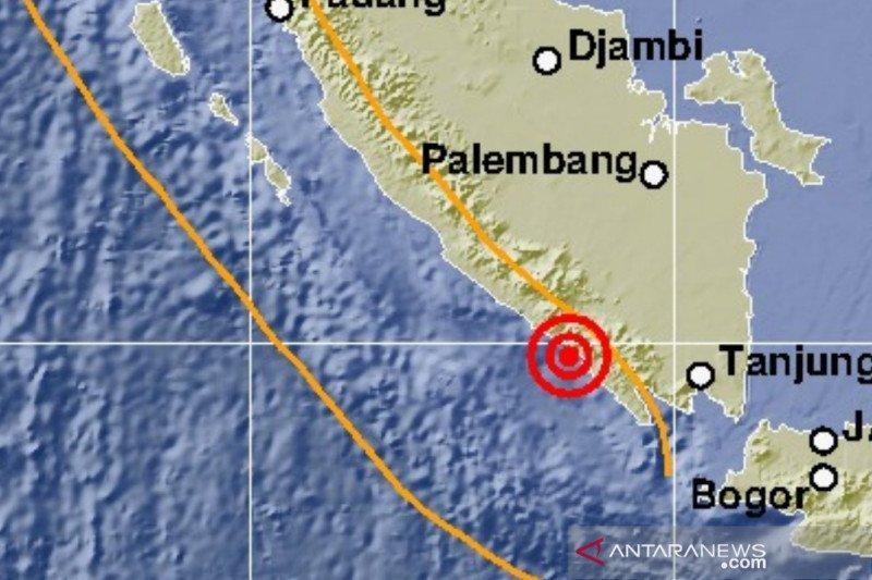 Gempa magnitudo 5,4 guncang Lampung
