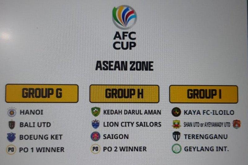 Bali United segrup Hanoi FC di Piala AFC 2021