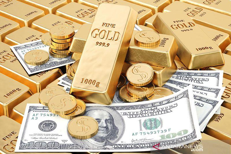 Harga emas anjlok 24,2 dolar tertekan kenaikan imbal hasil obligasi AS