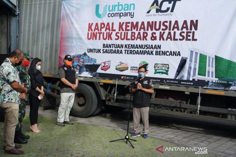 ACT Bali kirimkan 24 ton bantuan pangan korban banjir Kalsel