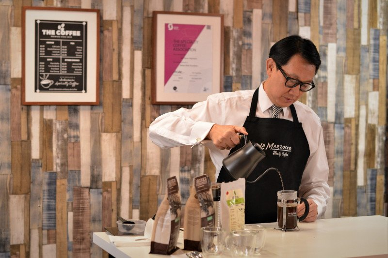 Bidik konsumen Jerman, KBRI Berlin selenggarakan uji cocok rasa kopi