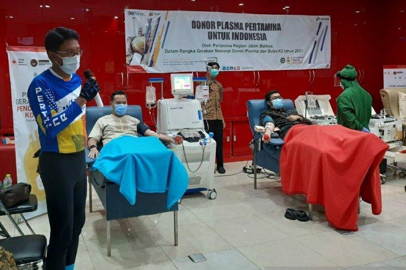Karyawan Pertamina Jatimbalinus donorkan plasma konvalesen