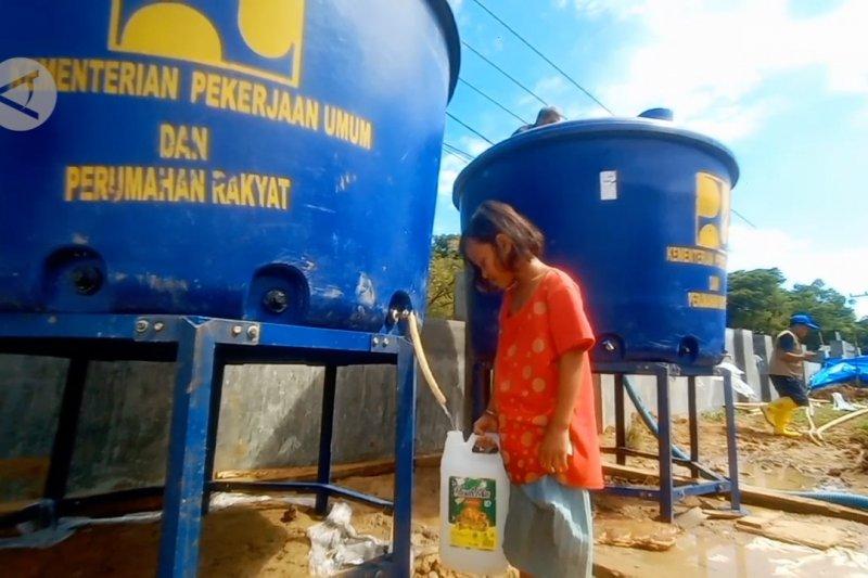 PUPR suplai air bersih di lokasi pengungsian Majene-Mamuju
