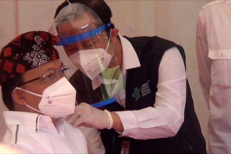 Berjalan lancar, vaksinasi di kota Denpasar ditargetkan selesai Maret 2021