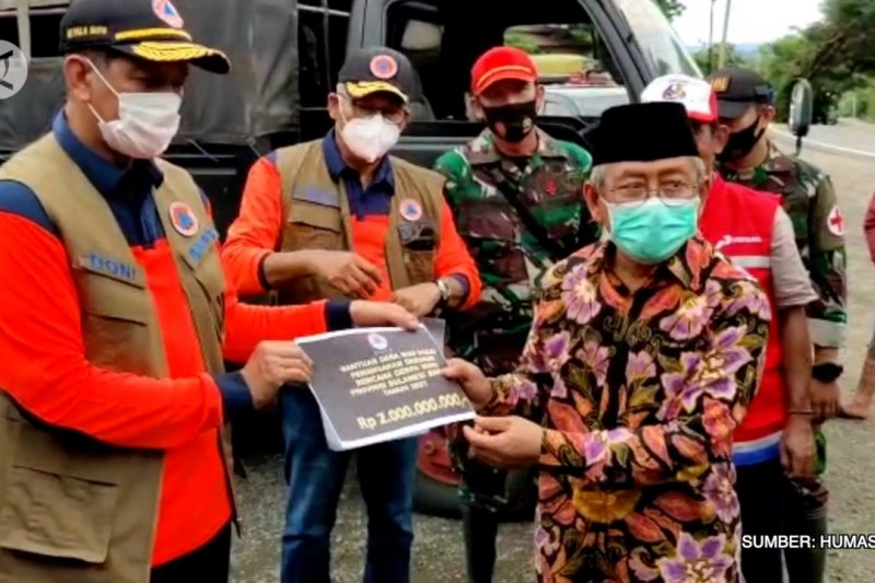 BNPB serahkan bantuan Rp 4 Miliar untuk penanganan gempa Sulawesi Barat