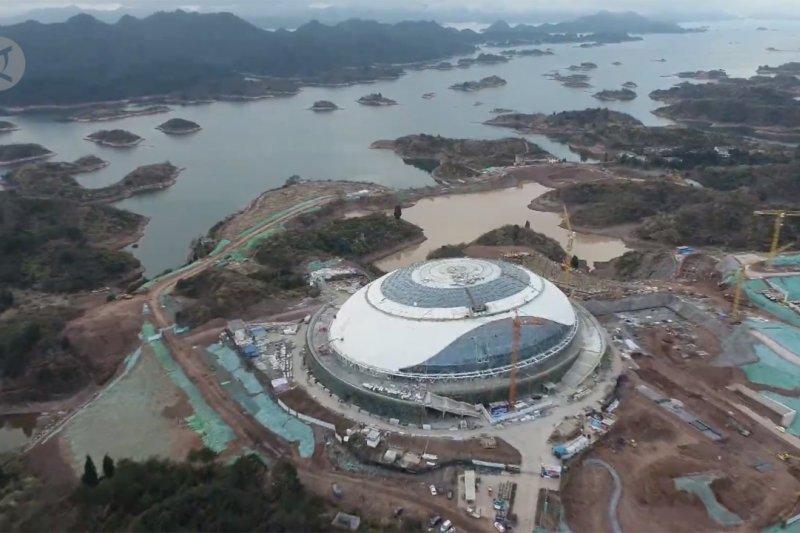 Pembangunan arena balap sepeda trek Asian Games ke-19 di China hampir rampung