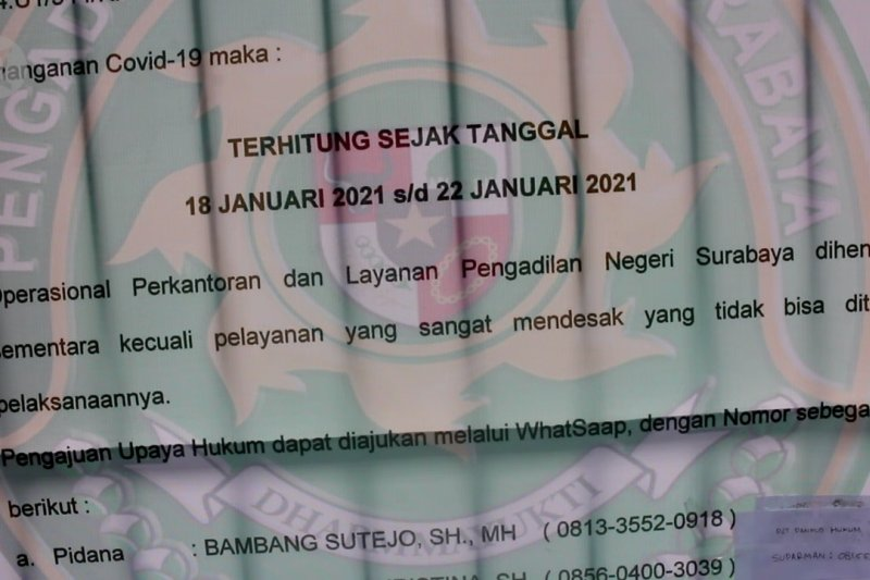PN Surabaya ditutup untuk ketiga kalinya