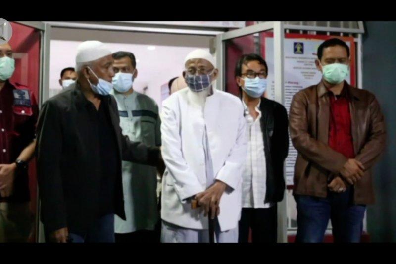 Abu Bakar Ba'Asyir bebas dari Lapas Gunung Sindur