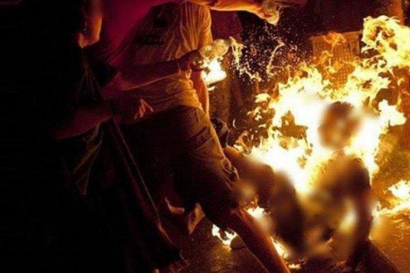 Polisi tangkap pria yang bakar istrinya di Deli Serdang