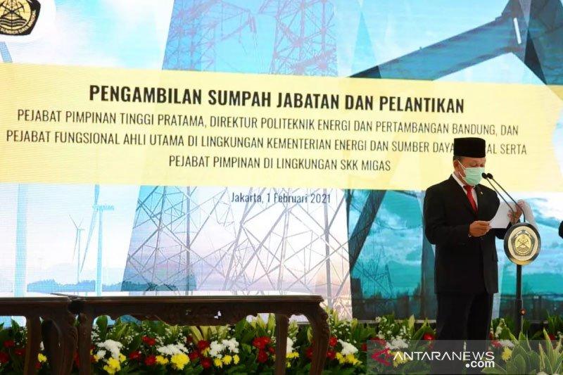 Menteri Arifin lantik 31 pejabat pimpinan tinggi Kementerian ESDM