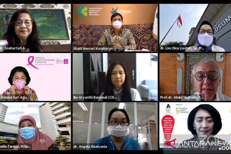 Kasus kanker payudara dan leher rahim masih paling tinggi di Indonesia