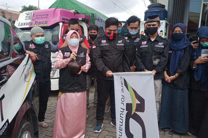 ACT Lampung berangkatkan bantuan kemanusian ke Kalimantan dan Sulawesi