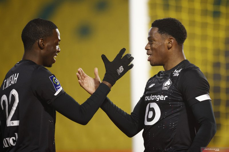Lille kembali ambil alih puncak dari Lyon usai pecundangi Nantes