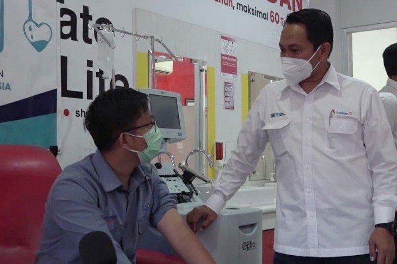 Satgas Bencana BUMN di Sumut gelar donor plasma