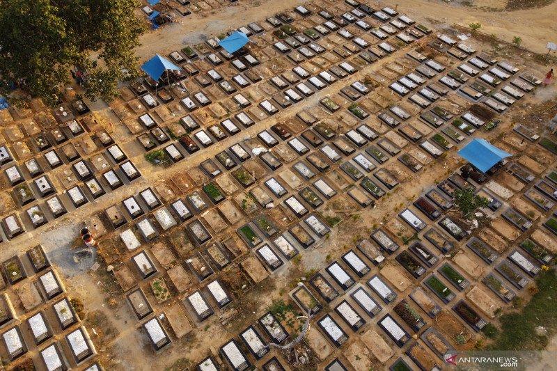 Lahan pemakaman untuk korban COVID-19 di Kendari
