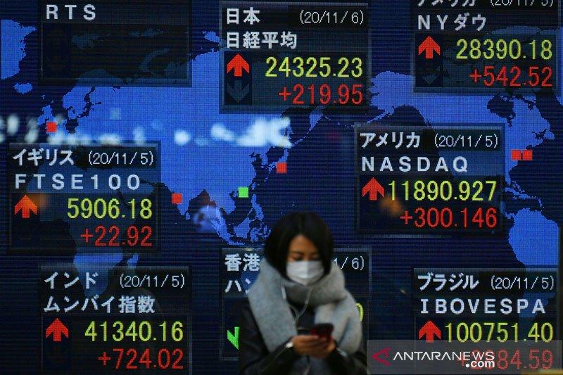 Saham Tokyo dibuka beragam, terpengaruh Wall Street dan naiknya COVID