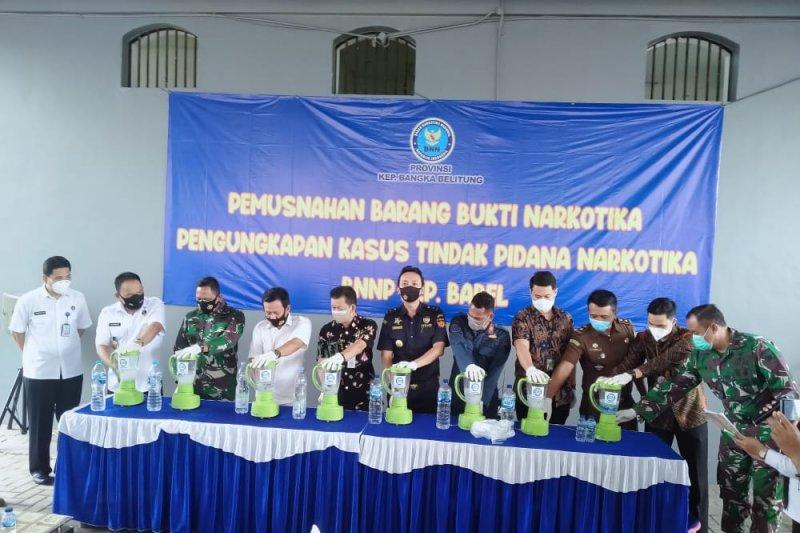 BNNP Babel memusnahkan dua kilogram sabu-sabu