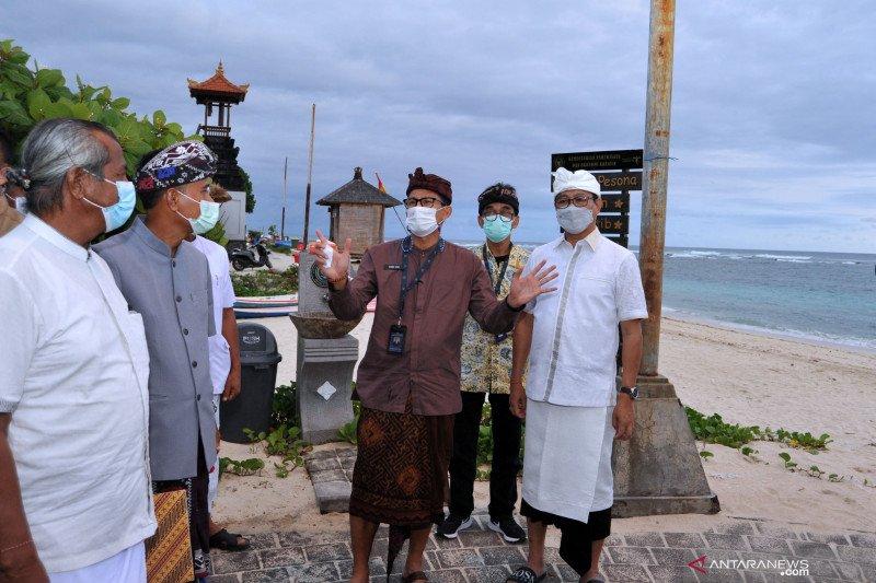 Menparekraf tinjau Pantai Pandawa Bali
