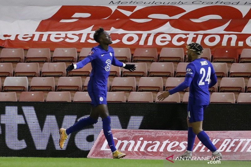 Tammy Abraham antar Chelsea melaju ke perempat final Piala FA
