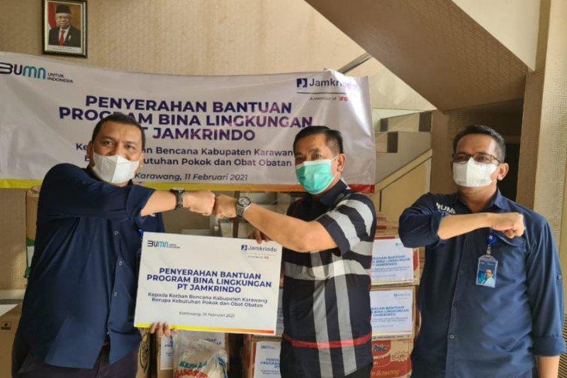 Jamkrindo salurkan bantuan untuk korban banjir Karawang dan Subang