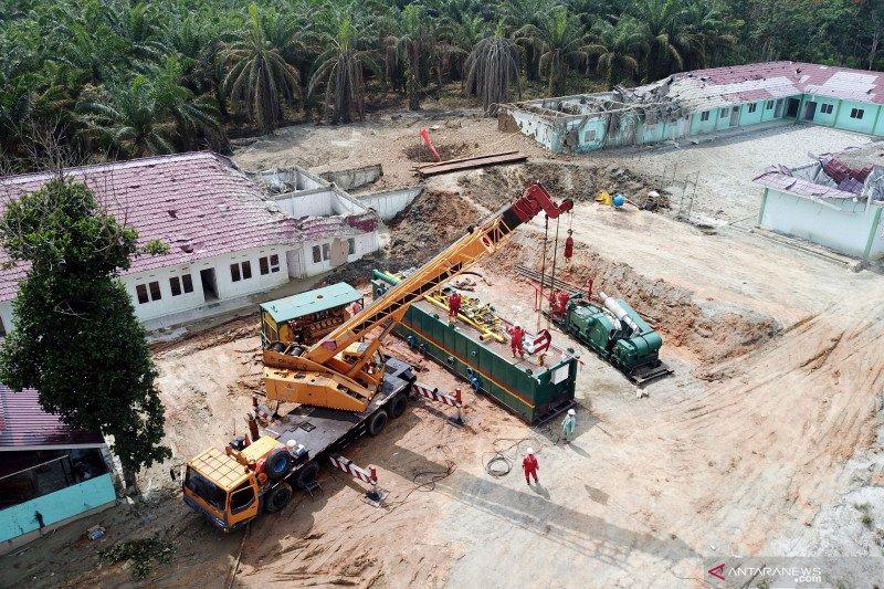 Penanganan semburan gas lumpur Pekanbaru