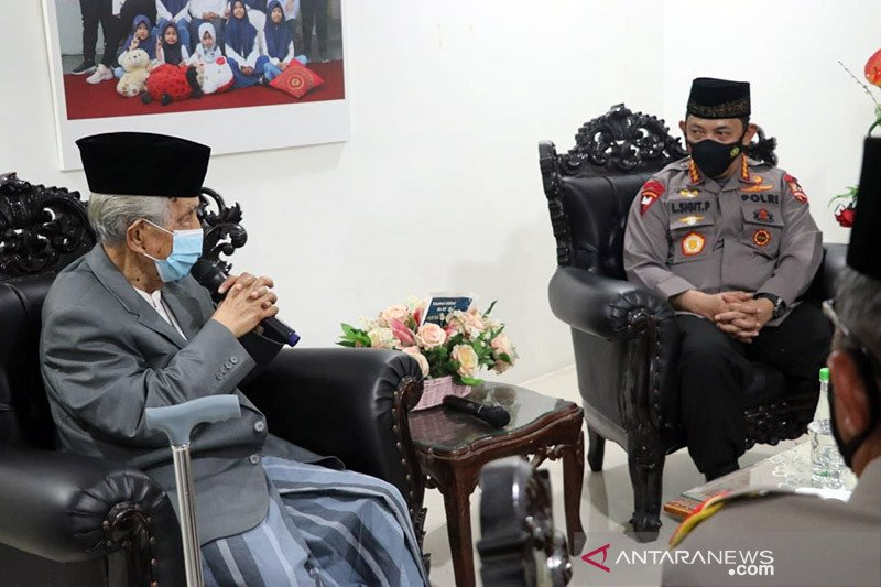 Sowan Ketua MUI Sulsel, Kapolri: penting dukungan ulama jaga kamtibmas
