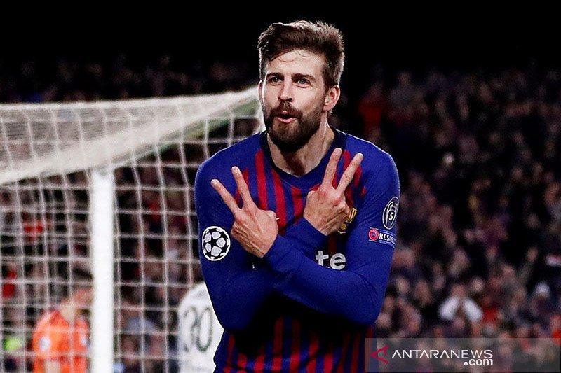 Jelang lawan PSG, Barcelona kembali diperkuat Gerard Pique