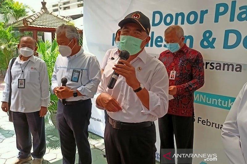 Menko PMK : Gerakan Nasional Donor Plasma tingkatkan jumlah pendonor