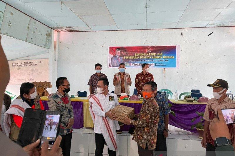 Komite II DPD RI kunjungi korban bencana di Mamasa, Sulbar