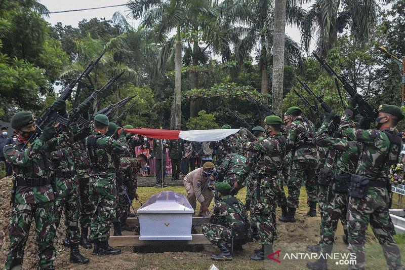 Pemakaman prajurit TNI korban penembakan KKB