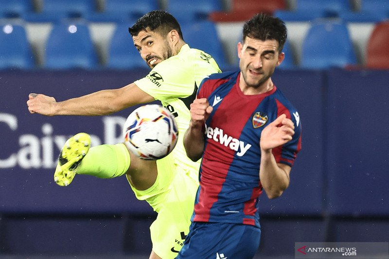 Atletico hanya mampu raih satu poin dari lawatan ke markas Levante