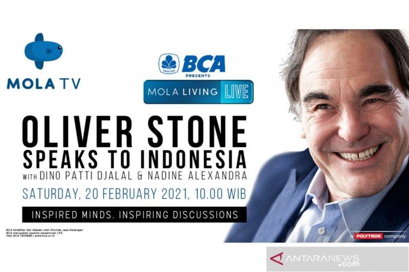 Sineas Oliver Stone akan bincang soal sinema di Mola TV