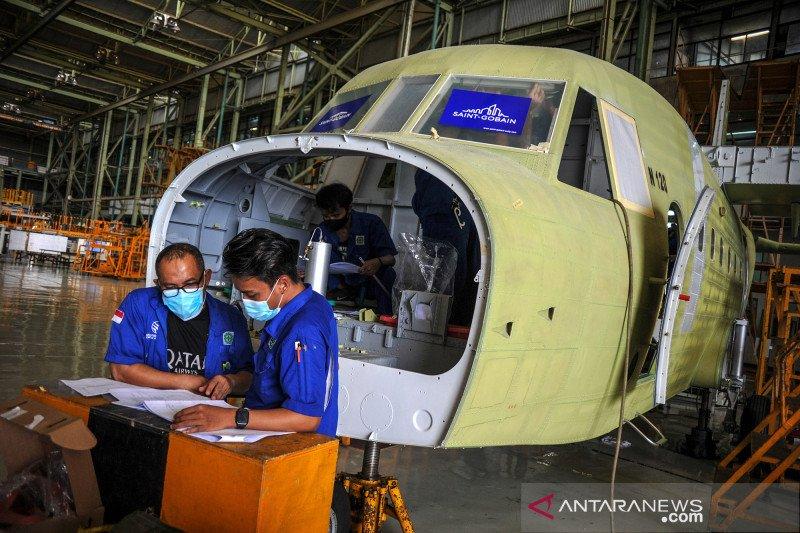 Mengintip produksi pesawat NC-212 di hanggar PT Dirgantara Indonesia