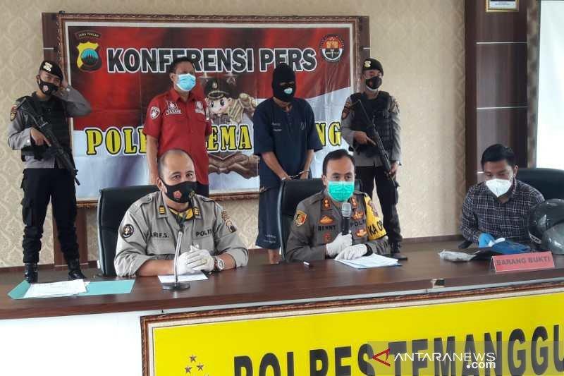Polres Temanggung menahan perampas semprotkan air cabai ke mata korban