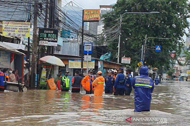 Banjir di Benhil capai 70 cm hingga semeter