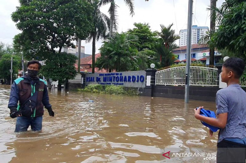 Ada empat titik genangan-banjir di Jakarta Pusat