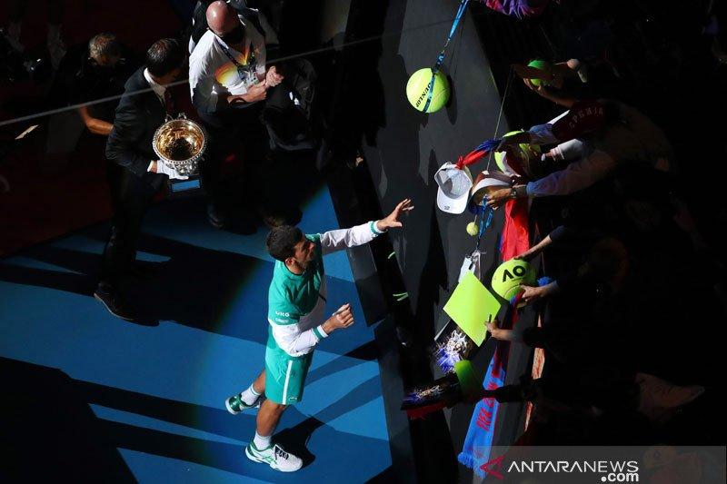 Djokovic semakin cinta Rod Laver pasca kemenangan kesembilan