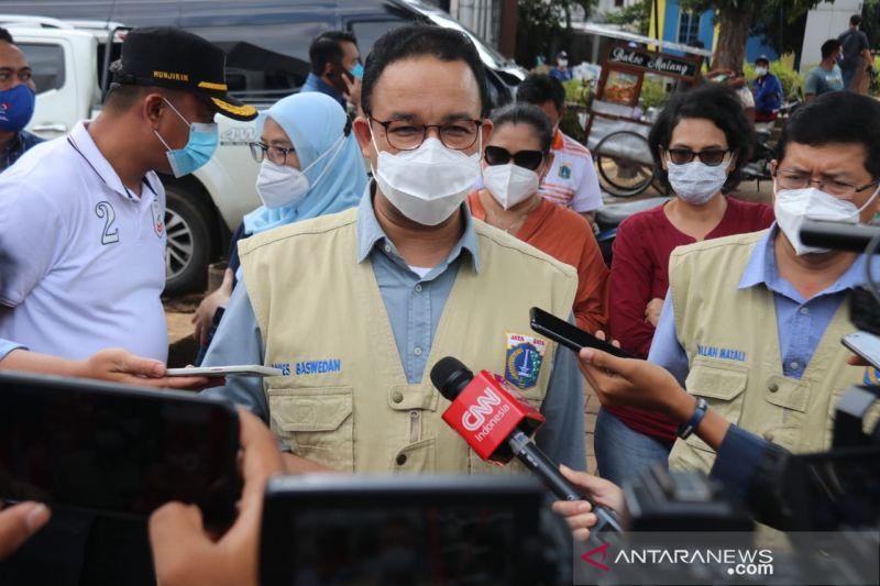Jalan utama Jakarta sudah bebas dari luapan Kali Krukut