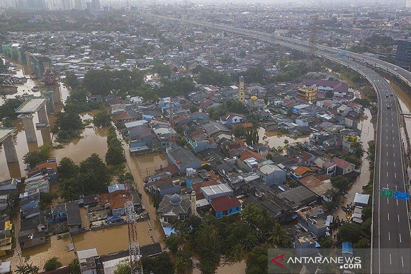 BPBD DKI: Pantauan banjir Minggu pagi Cipinang Hulu siaga III