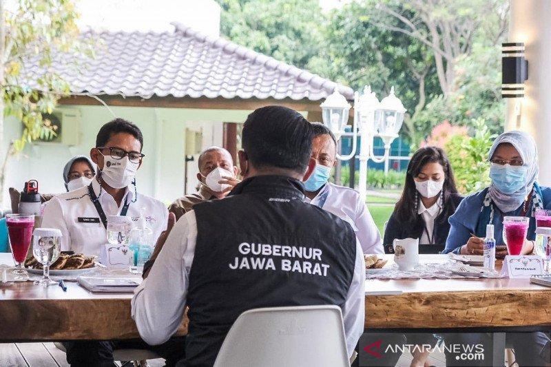 Sandiaga bertemu Ridwan Kamil bahas KEK Lido